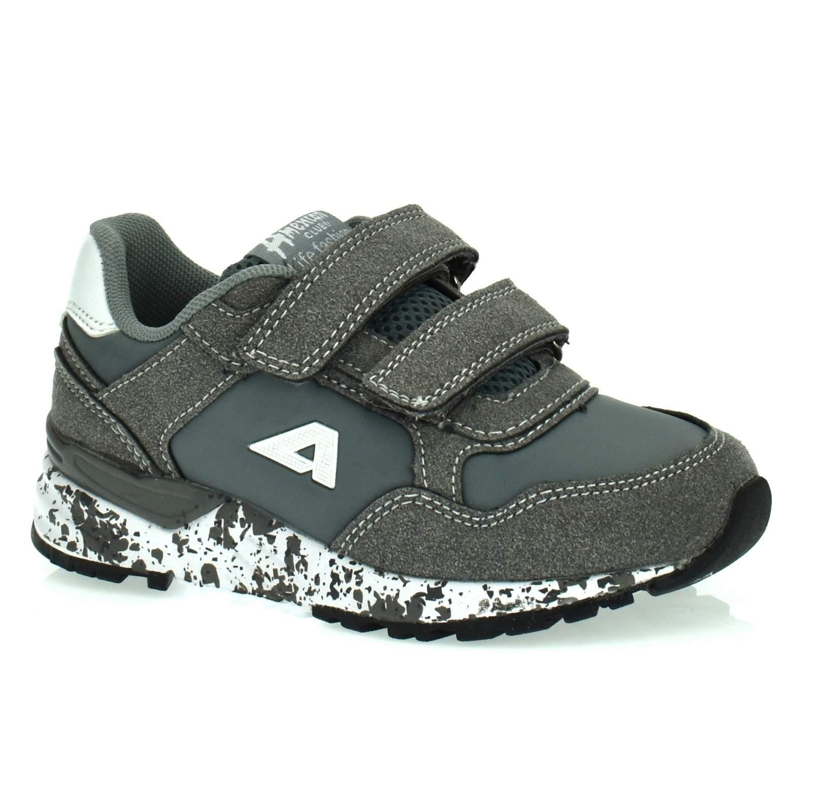 ab52be11287d43 Sportowe buty dla dzieci American Club BS 12/19 Szary Kliknij, aby  powiększyć ...