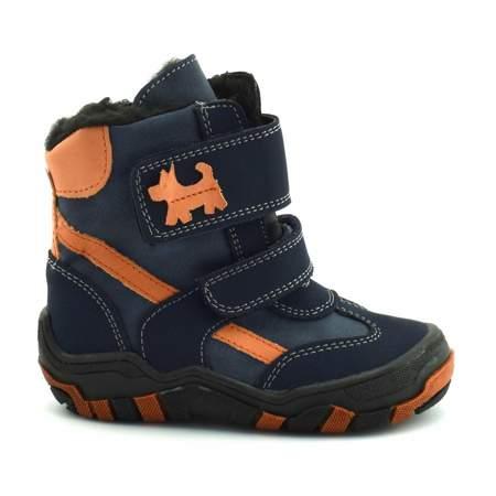 Buty zimowe dla dzieci marki Kornecki 04560 Kobalt