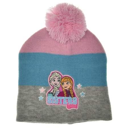 Czapka dla dzieci Kraina Lodu Elsa i Anna pastelowa