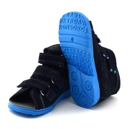 Dziecięce buty profilaktyczne Dawid 1041 Granatowe