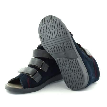 Granatowe dziecięce buty profilaktyczne Dawid 1043