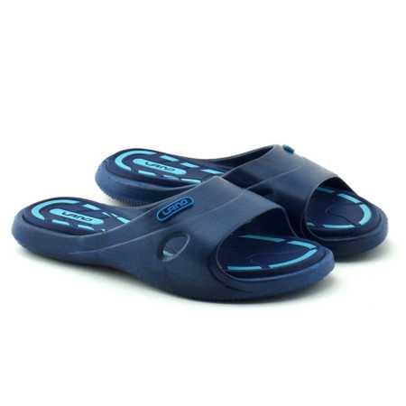 Klapki basenowe firmy Lano Granatowo-niebieskie