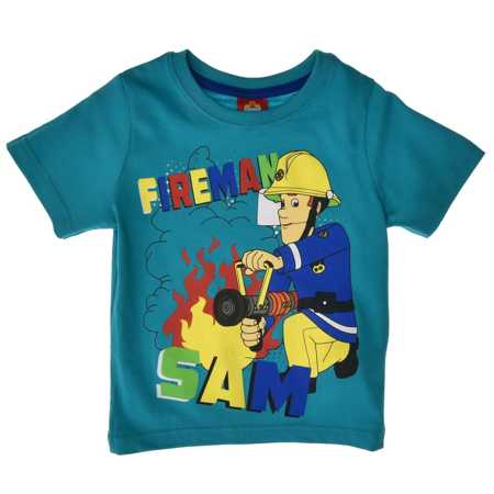 T-shirt dla dzieci Strażak Sam Turkusowy