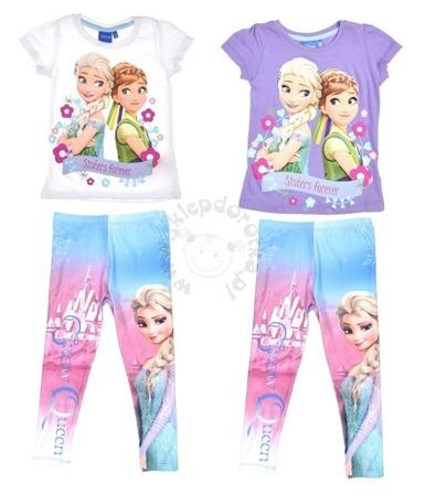 Zestaw dla dzieci T-shirt i legginsy Frozen-Kraina Lodu